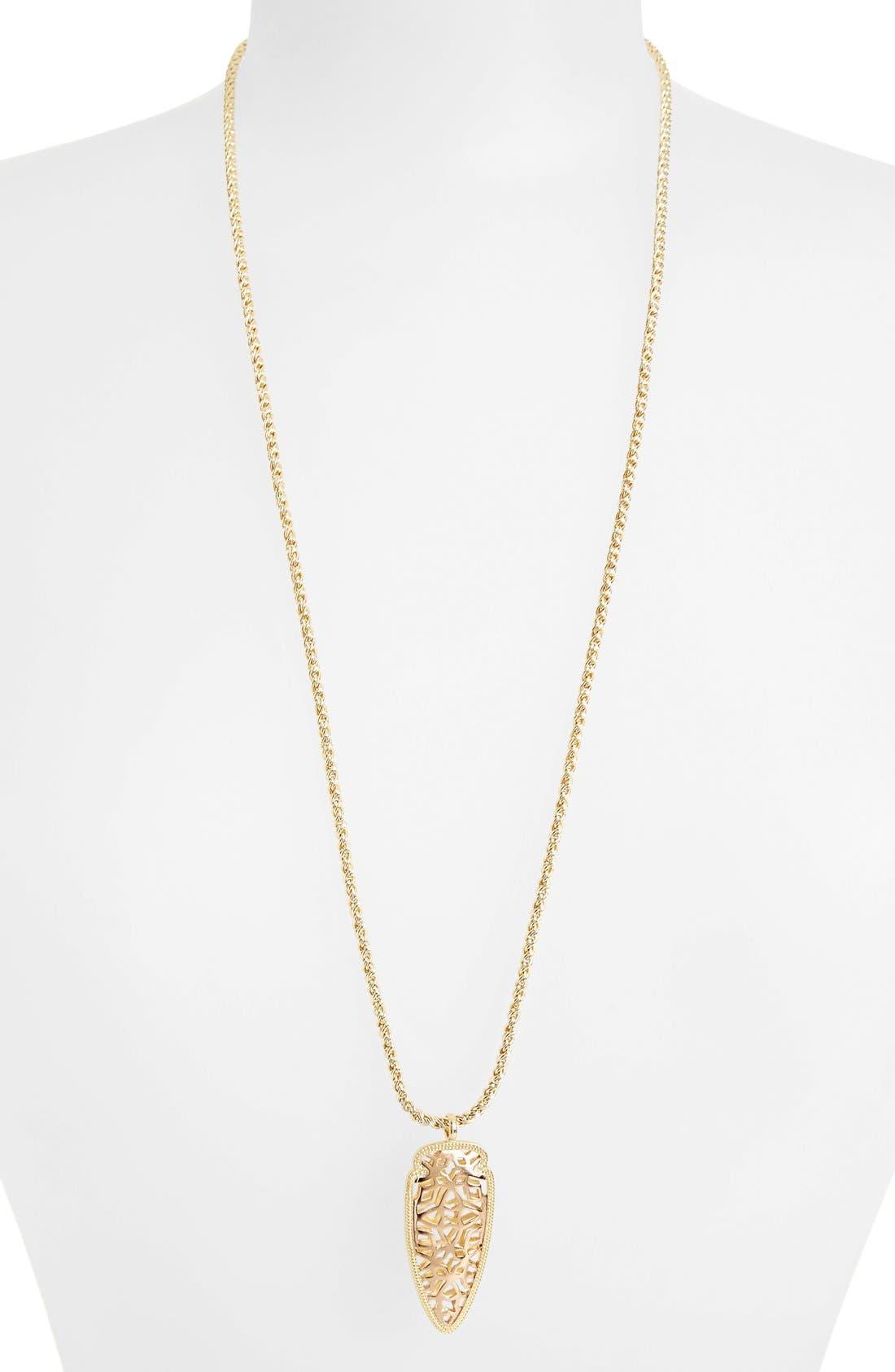 'Glam Rocks - Sienna' Pendant Necklace,                         Main,                         color, Rose Gold