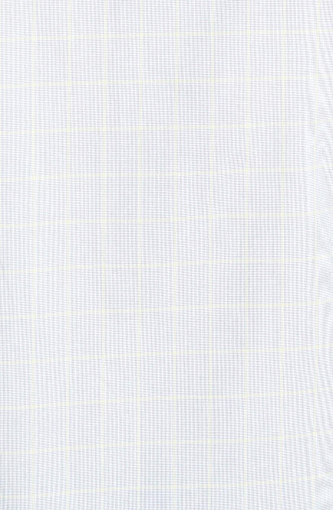 Alternate Image 3  - Kenneth Cole New York Trim Fit Short Sleeve Windowpane Plaid Sport Shirt