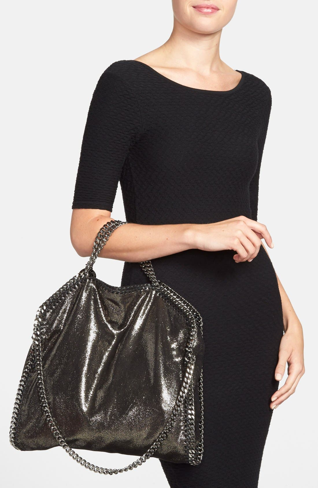 Alternate Image 2  - Stella McCartney 'Falabella' Metallic Foldover Tote