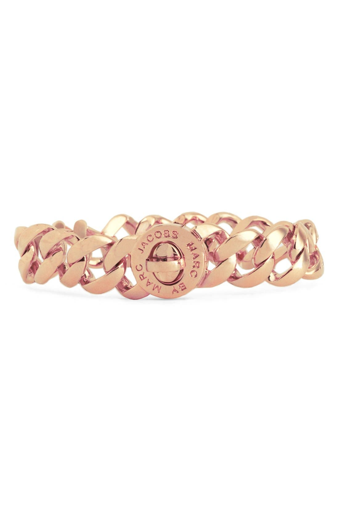 'Turnlock - Katie' Small Bracelet,                             Main thumbnail 1, color,                             Rose Gold
