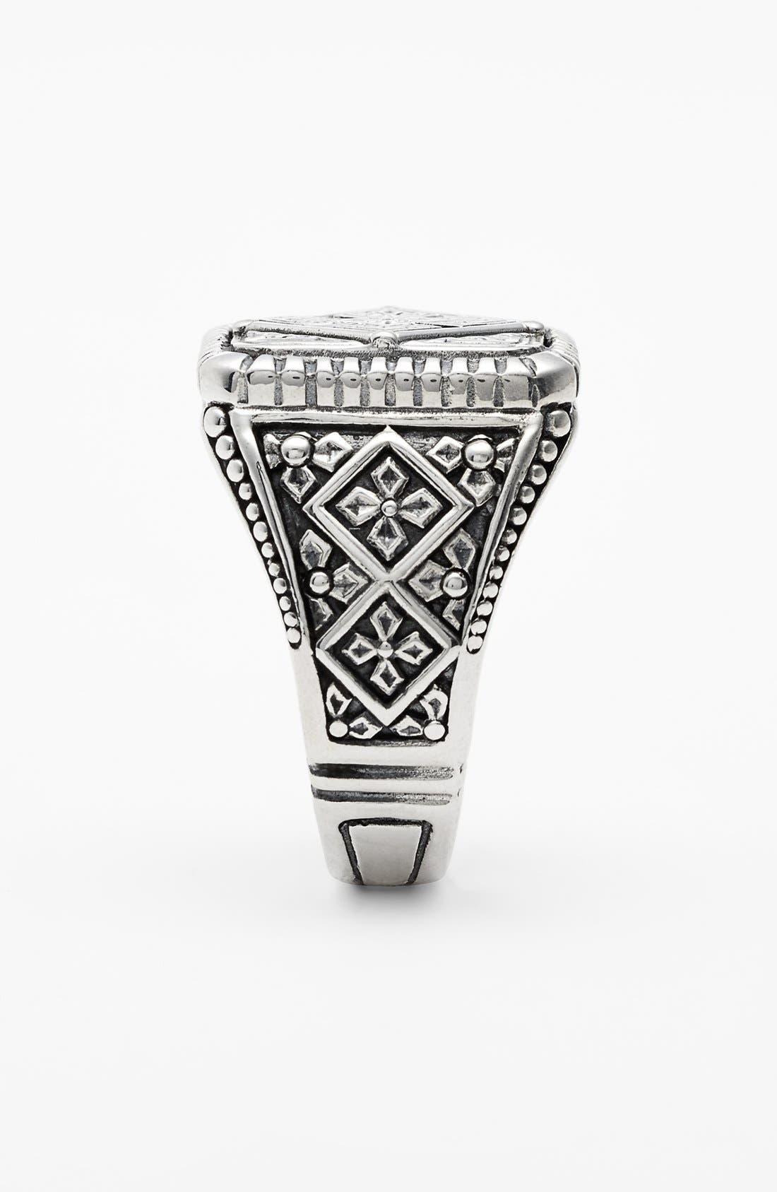 'Classics' Cross Square Ring,                             Alternate thumbnail 2, color,                             Silver