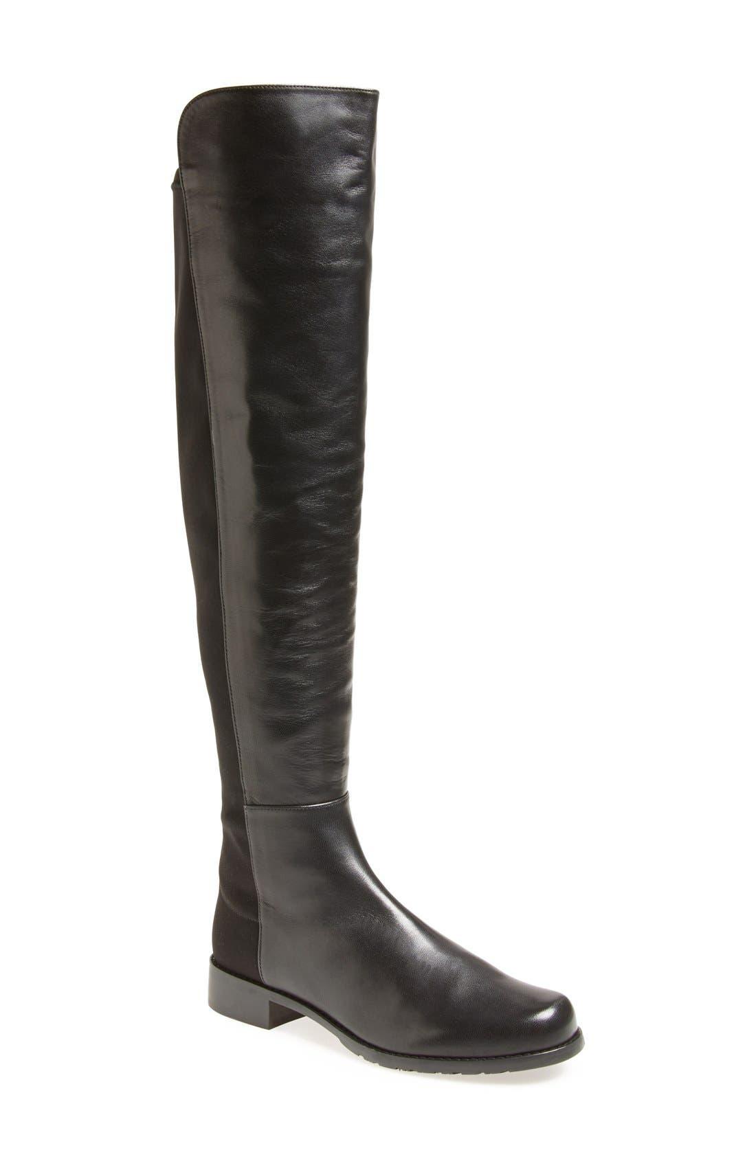 Alternate Image 1 Selected - Stuart Weitzman 5050 Over the Knee Leather Boot (Women)