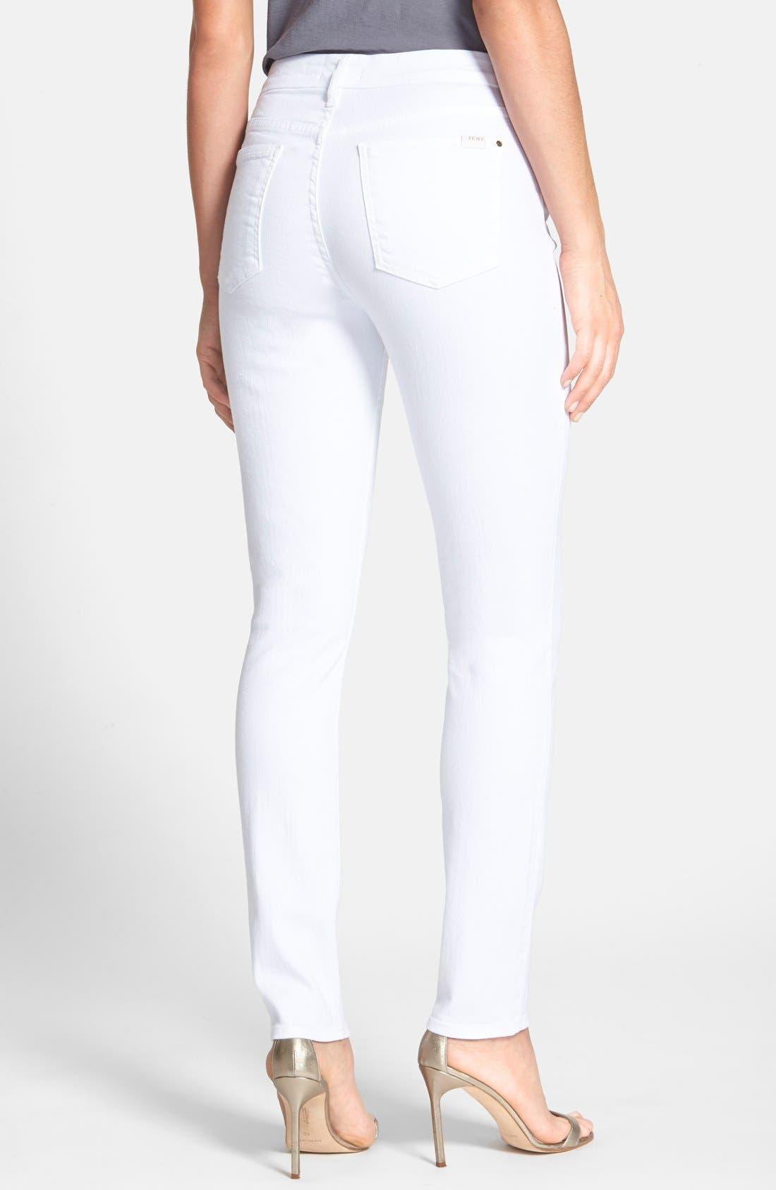 Stretch Skinny Jeans,                             Alternate thumbnail 2, color,                             White Denim
