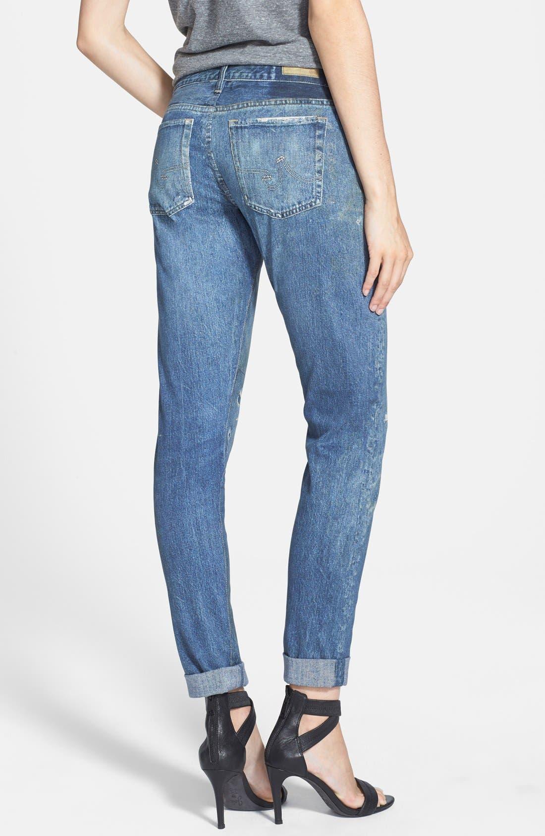Alternate Image 2  - AG 'Digital Luxe Nikki' Relaxed Skinny Jeans (Teller)
