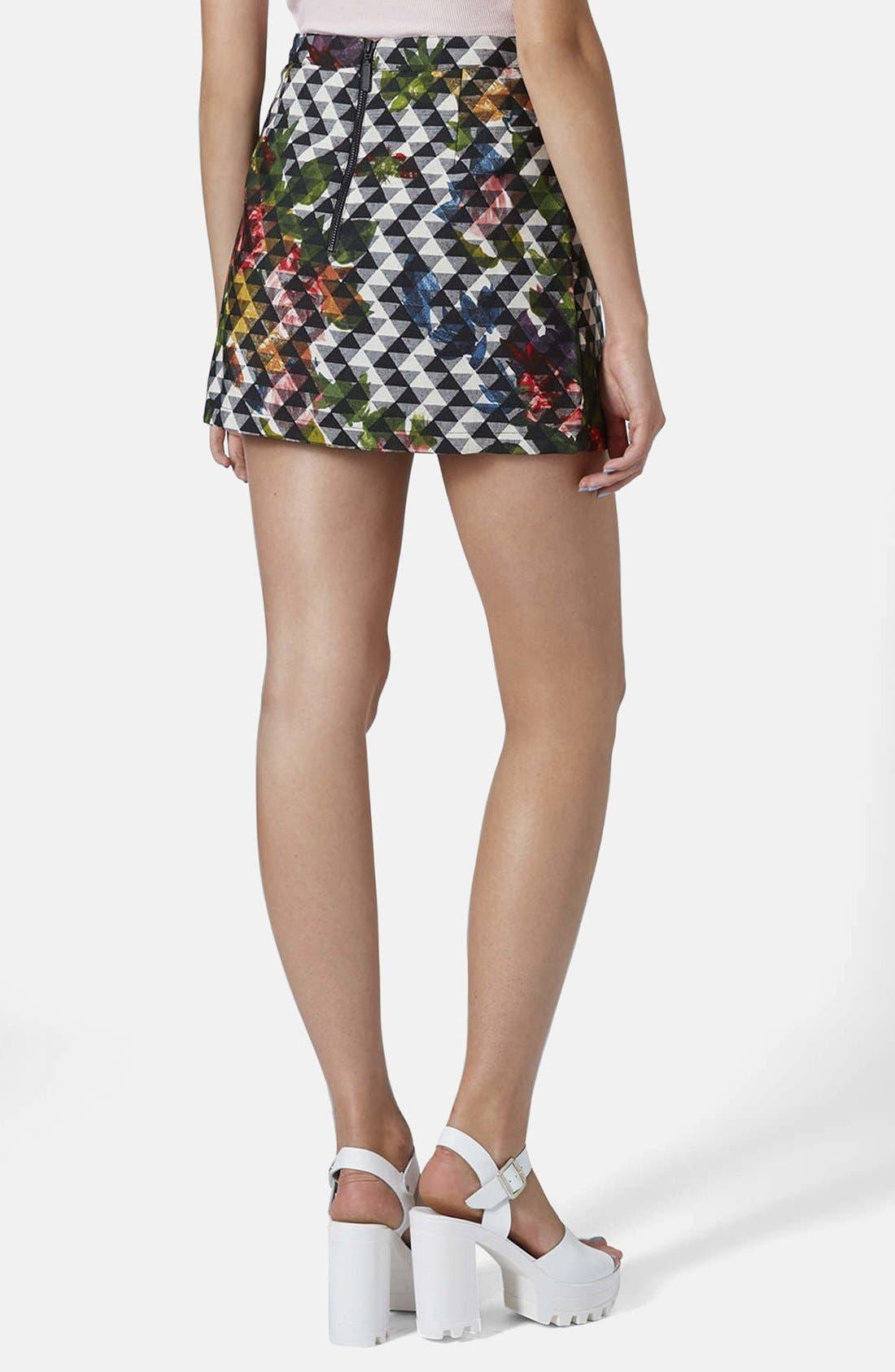 Alternate Image 2  - Topshop Floral Print Pelmet Skirt