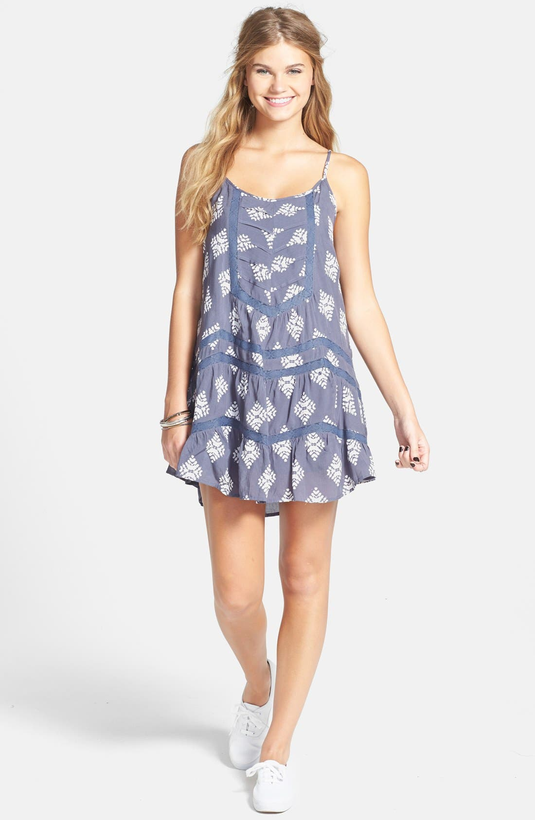 Alternate Image 3  - Volcom 'Holey Smokes' Lace Trim Slipdress