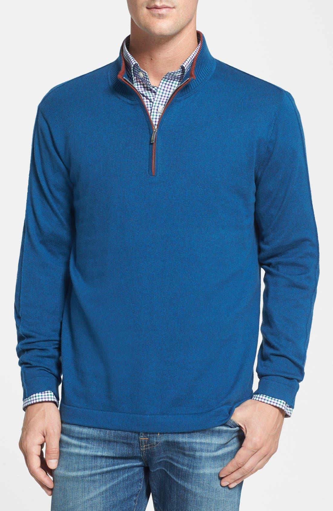 Alternate Image 1 Selected - Tommy Bahama 'Island Luxe' Half Zip Sweatshirt