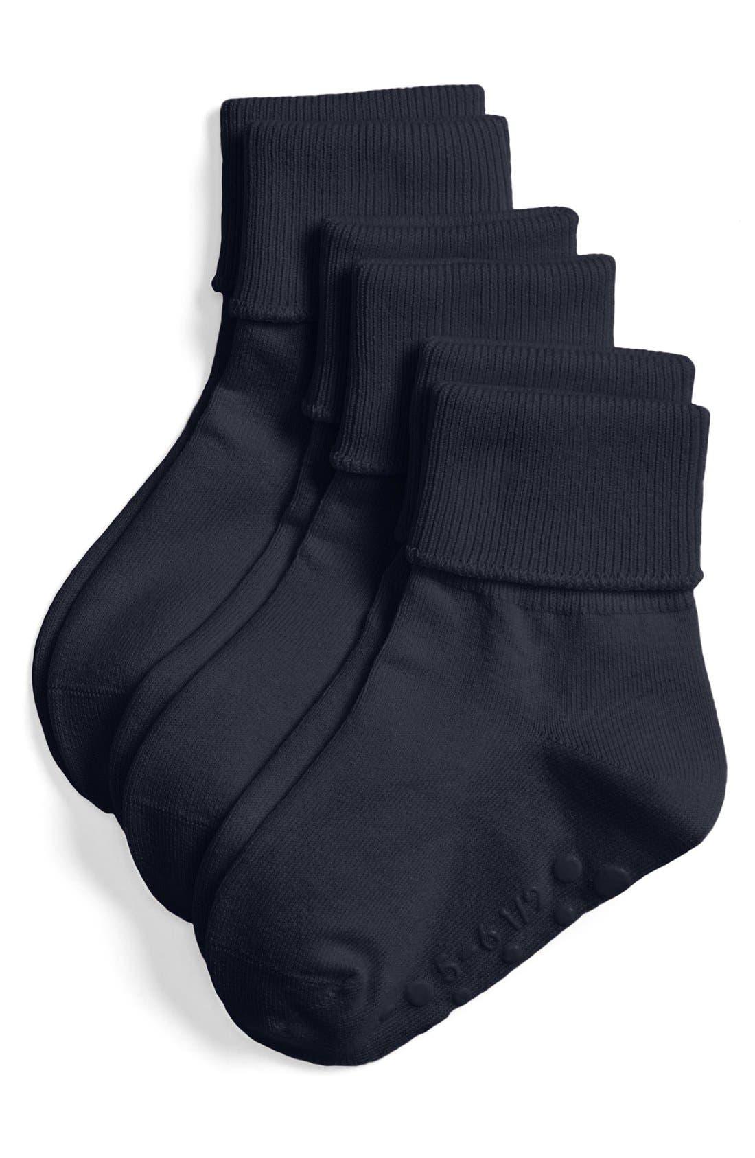Main Image - Tucker + Tate Cotton Blend Socks (3-Pack) (Baby Girls, Toddler Girls, Little Girls & Big Girls)