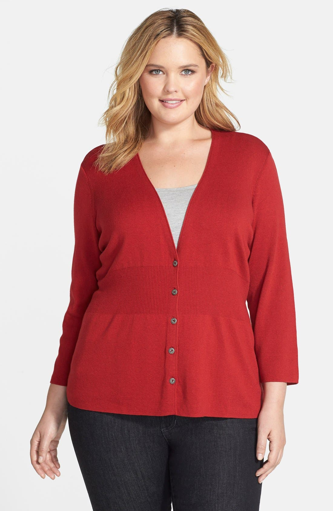 Alternate Image 1 Selected - NIC+ZOE 'Back of the Chair' Cardigan (Plus Size)