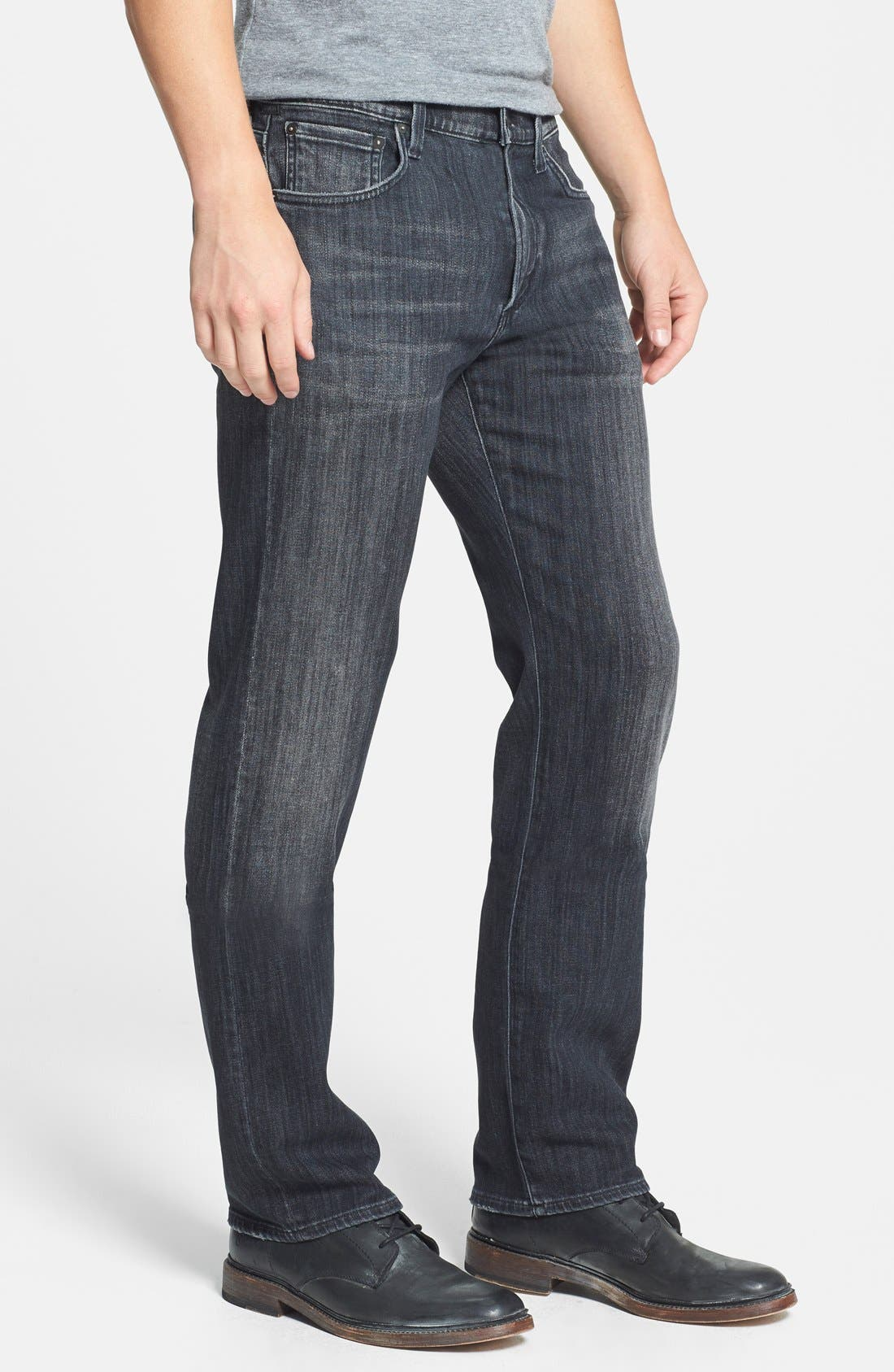 'Sid' Classic Straight Leg Jeans,                             Alternate thumbnail 3, color,                             Crow