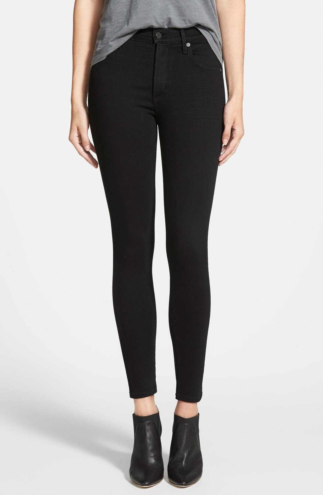'Rocket' High Rise Skinny Jeans,                         Main,                         color, Axel