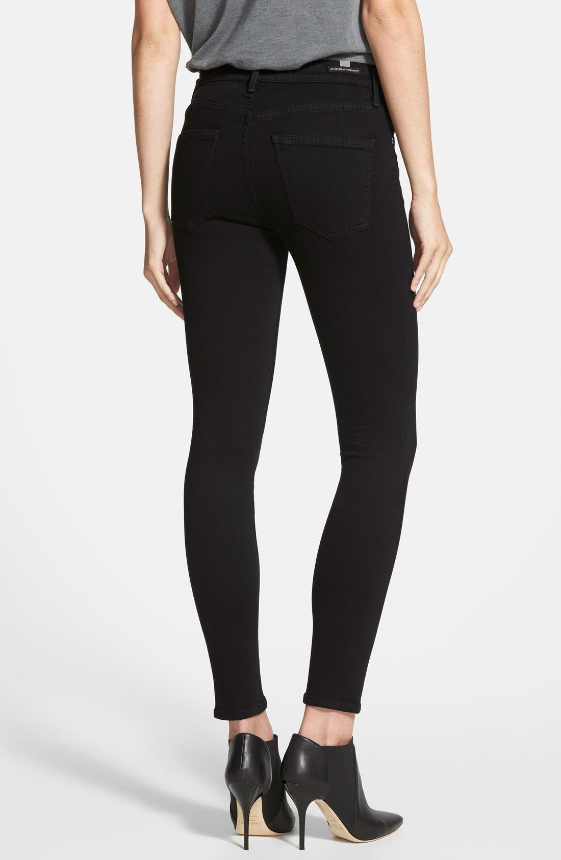 'Rocket' High Rise Skinny Jeans,                             Alternate thumbnail 2, color,                             Axel
