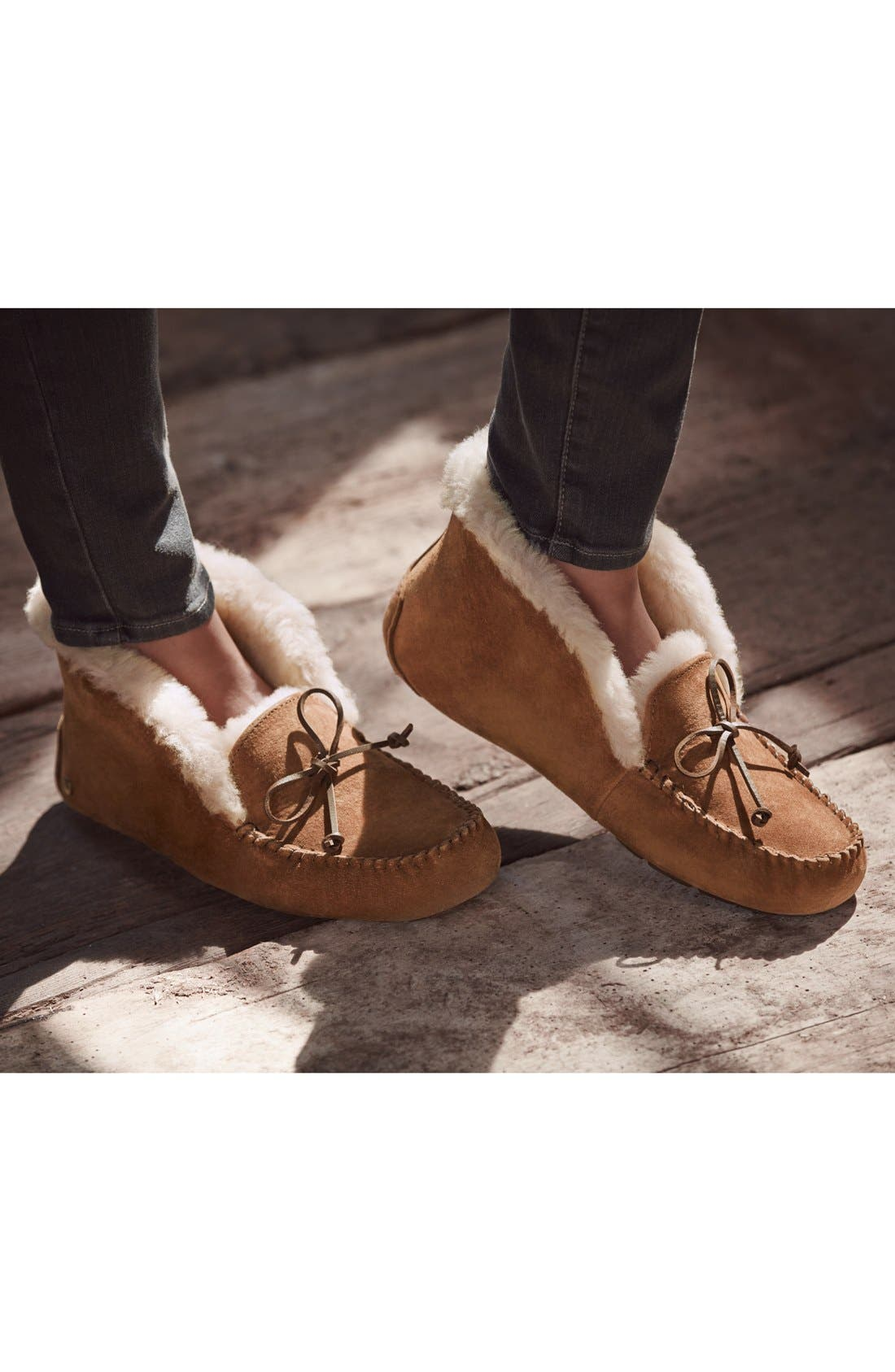 Alternate Image 5  - UGG® UGGpure™ Alena Suede Slipper Bootie (Women)