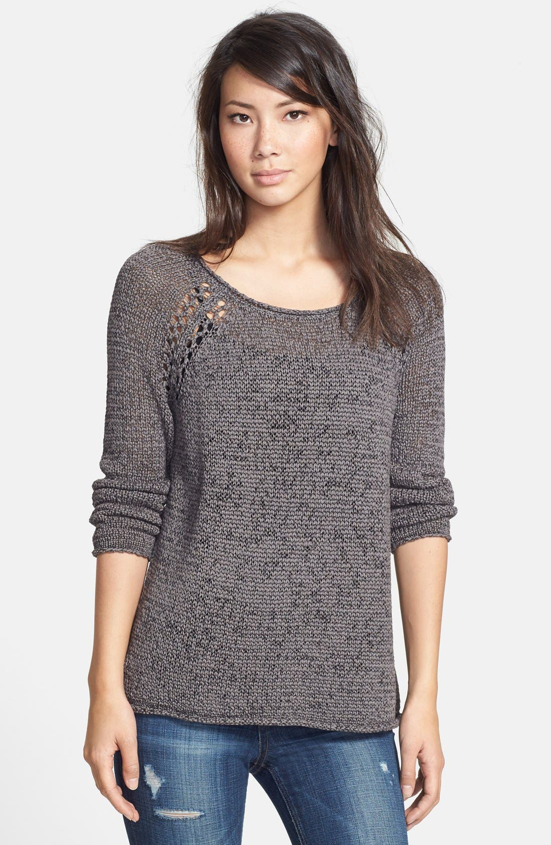 Alternate Image 1 Selected - Soft Joie Open Knit Pullover