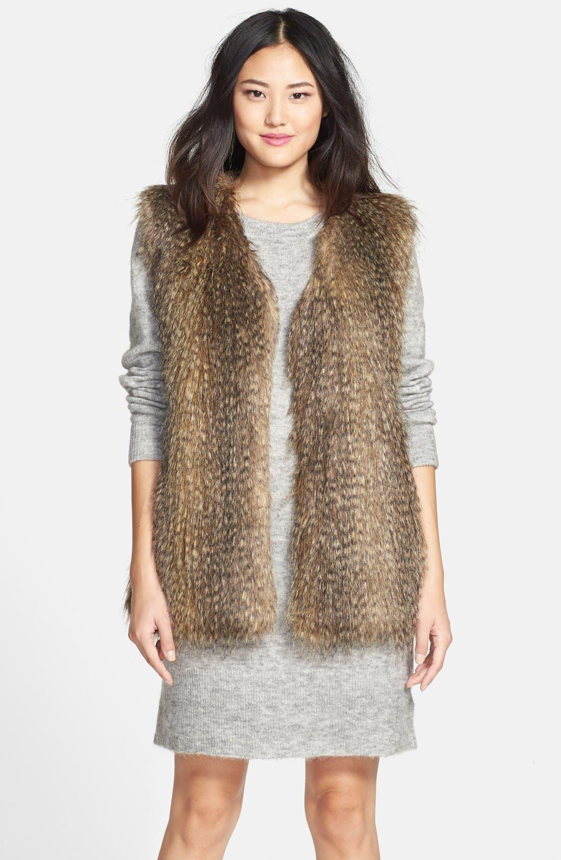 Main Image - Via Spiga Faux Fur Vest