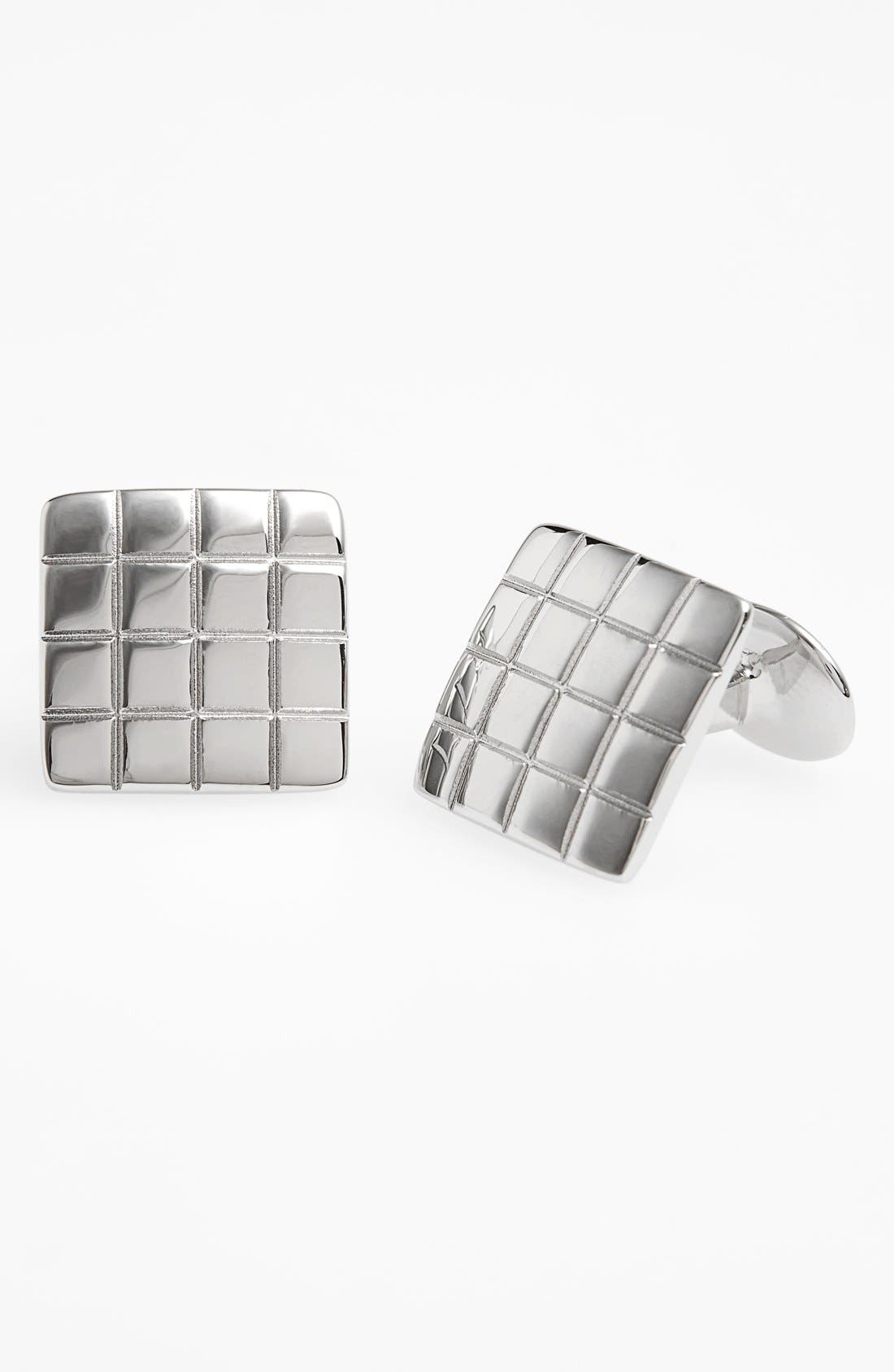 Sterling Silver Cuff Links,                         Main,                         color, Silver