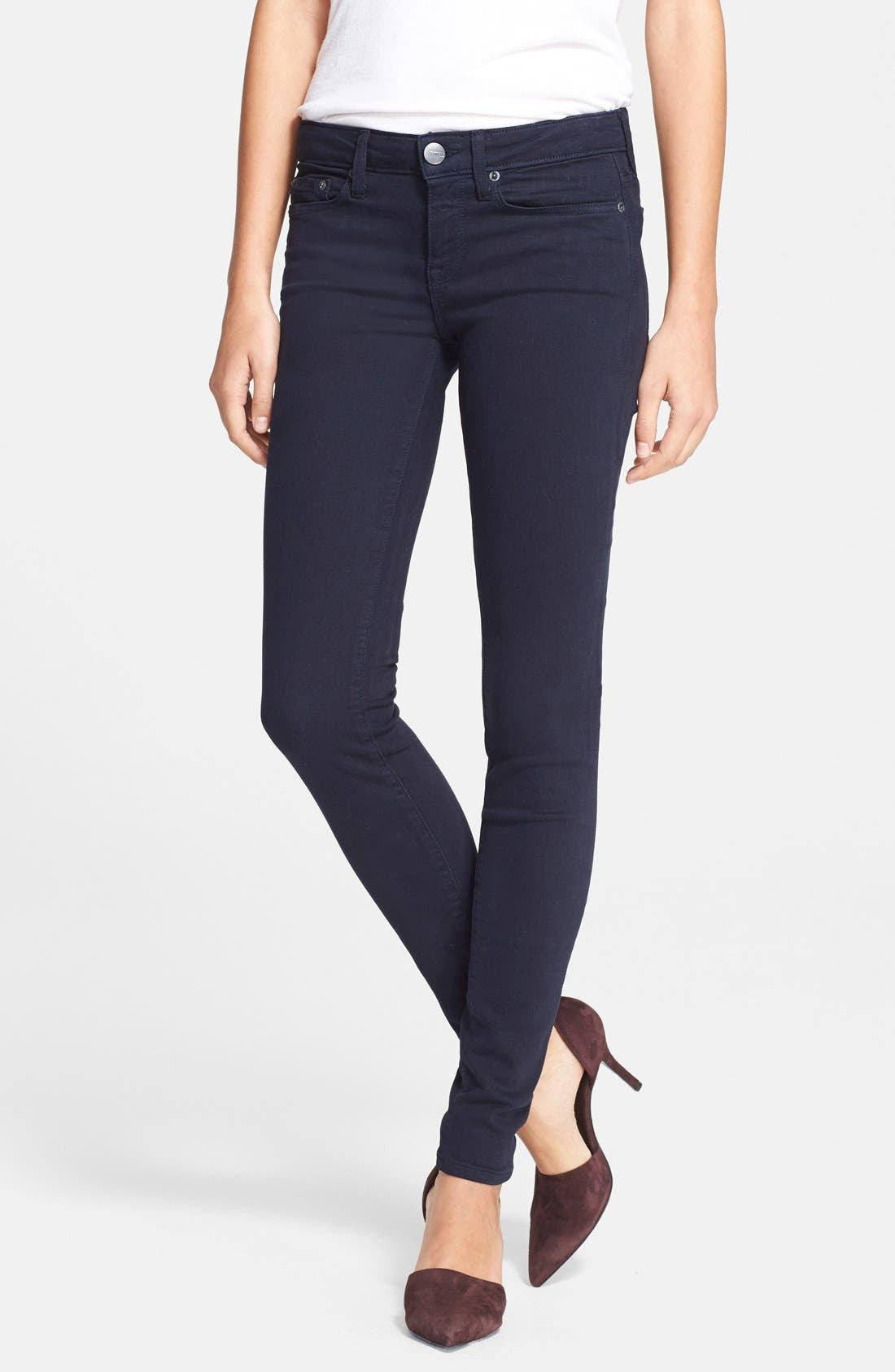 Alternate Image 1 Selected - Vince 'Riley' Skinny Jeans (Coastal Blue)