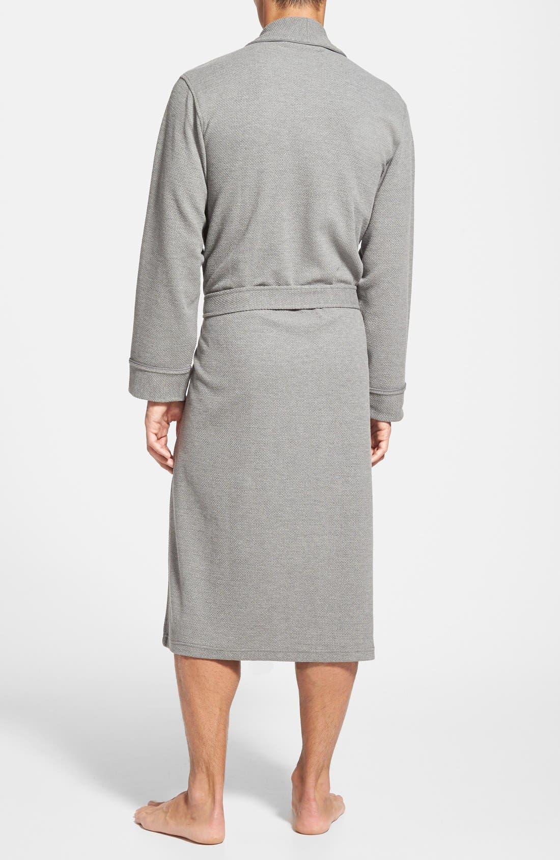 Alternate Image 2  - Nordstrom Men's Shop Thermal Knit Robe