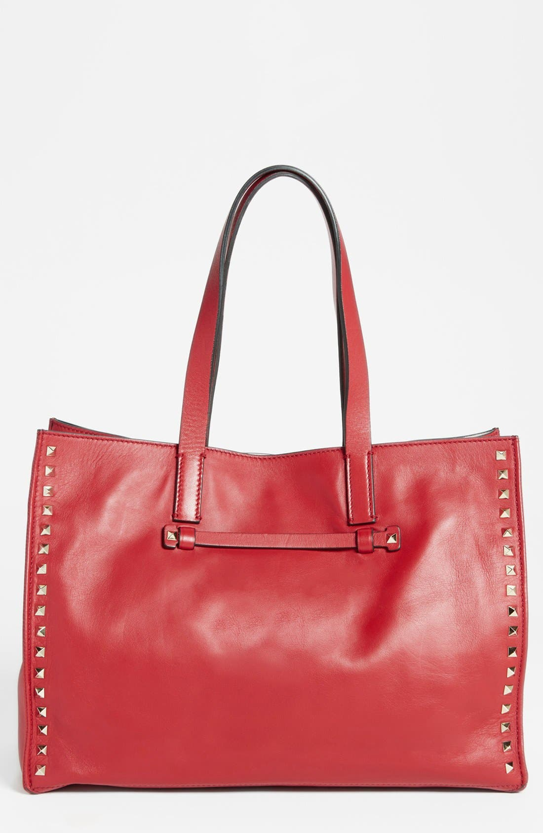 Alternate Image 1 Selected - Valentino 'Medium Rockstud' Leather Tote