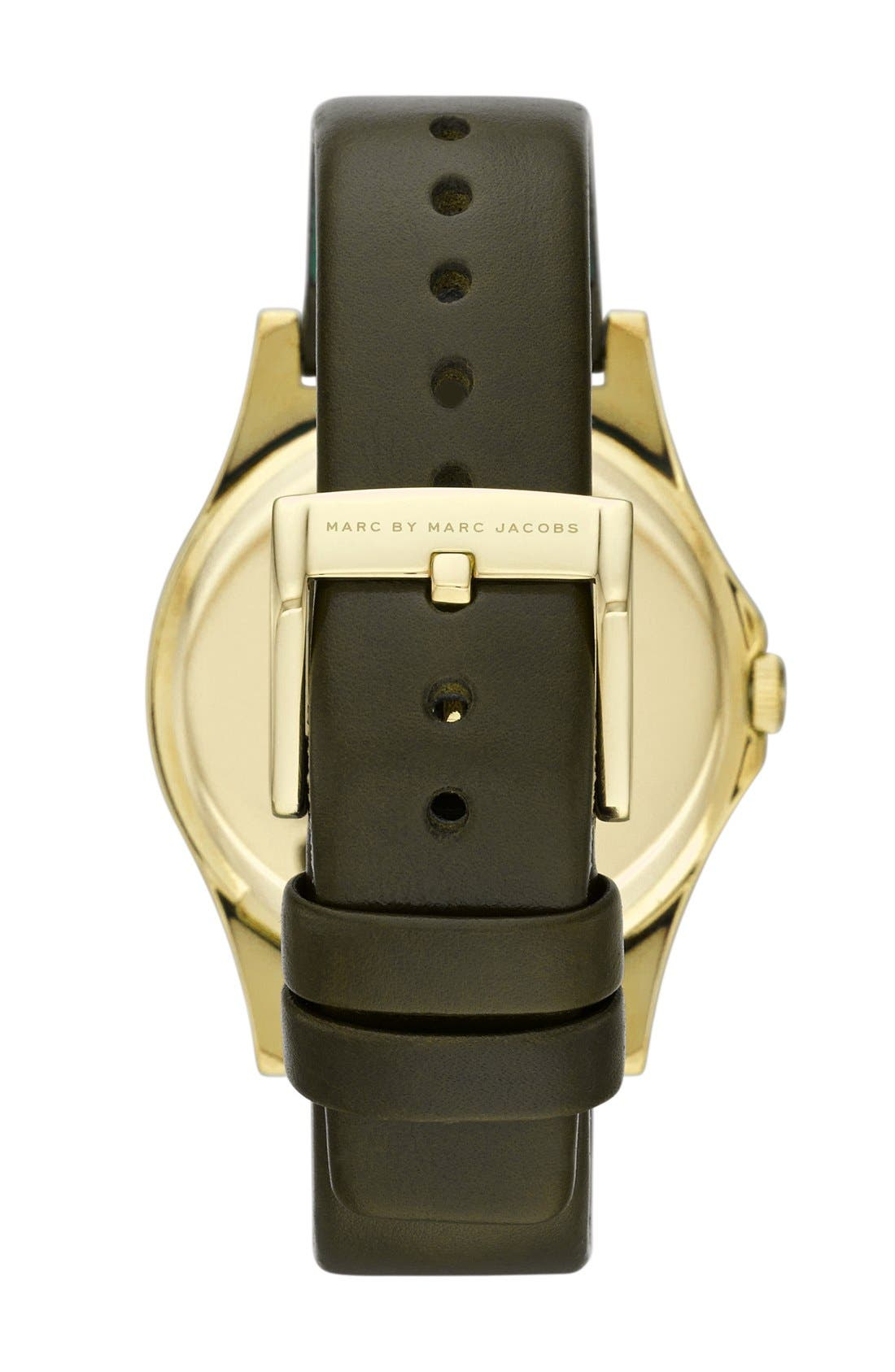 Alternate Image 2  - MARC JACOBS 'The Slim' Ombré Dial Leather Strap Watch, 36mm