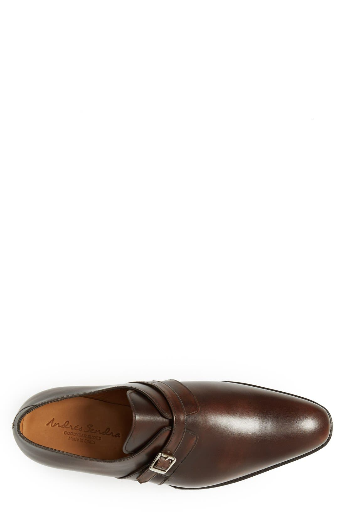 'Galway' Monk Strap Slip-On,                             Alternate thumbnail 3, color,                             Brown