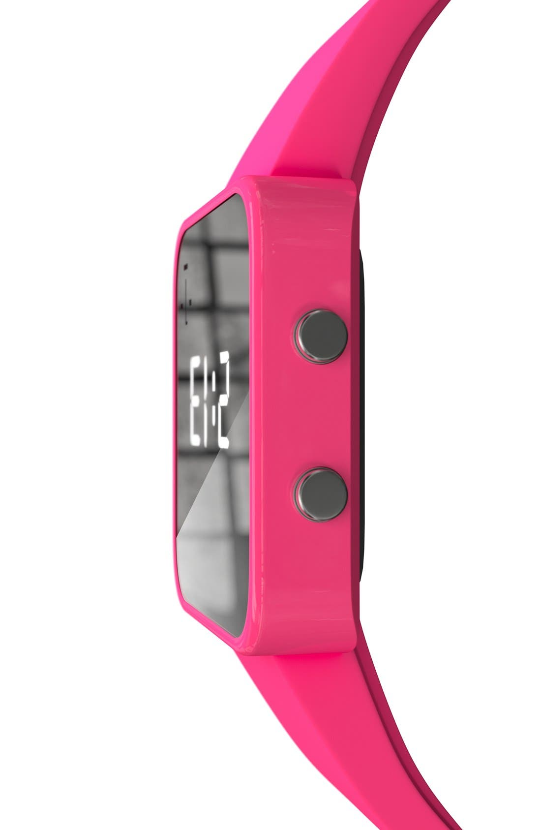 Alternate Image 7  - 1:Face 'Breast Cancer' Square Digital Silicone Strap Watch, 38mm