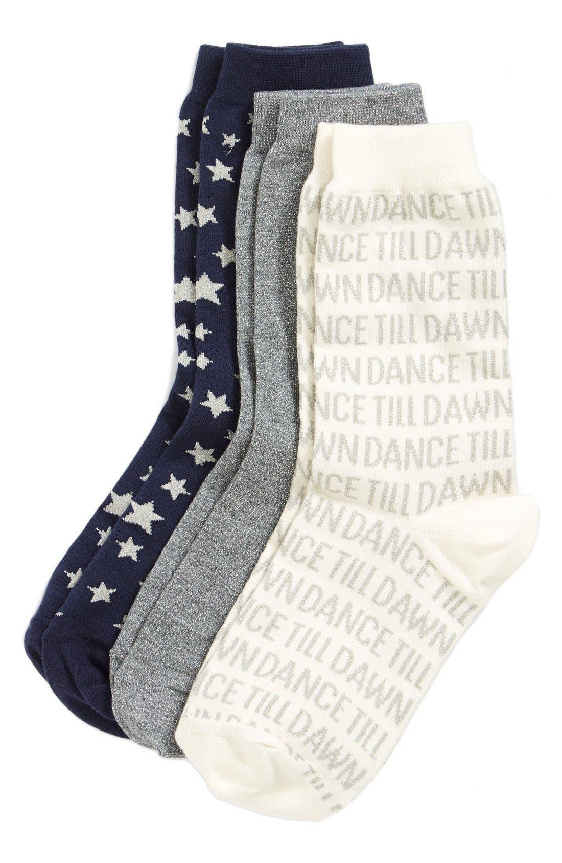 Alternate Image 2  - kate spade new york 'night' boxed socks (3-pack)