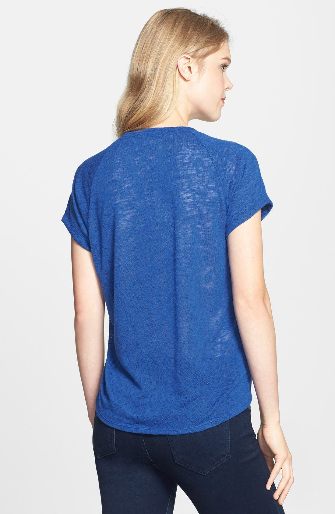 Alternate Image 2  - Gibson Texture Front Tee (Regular & Petite)