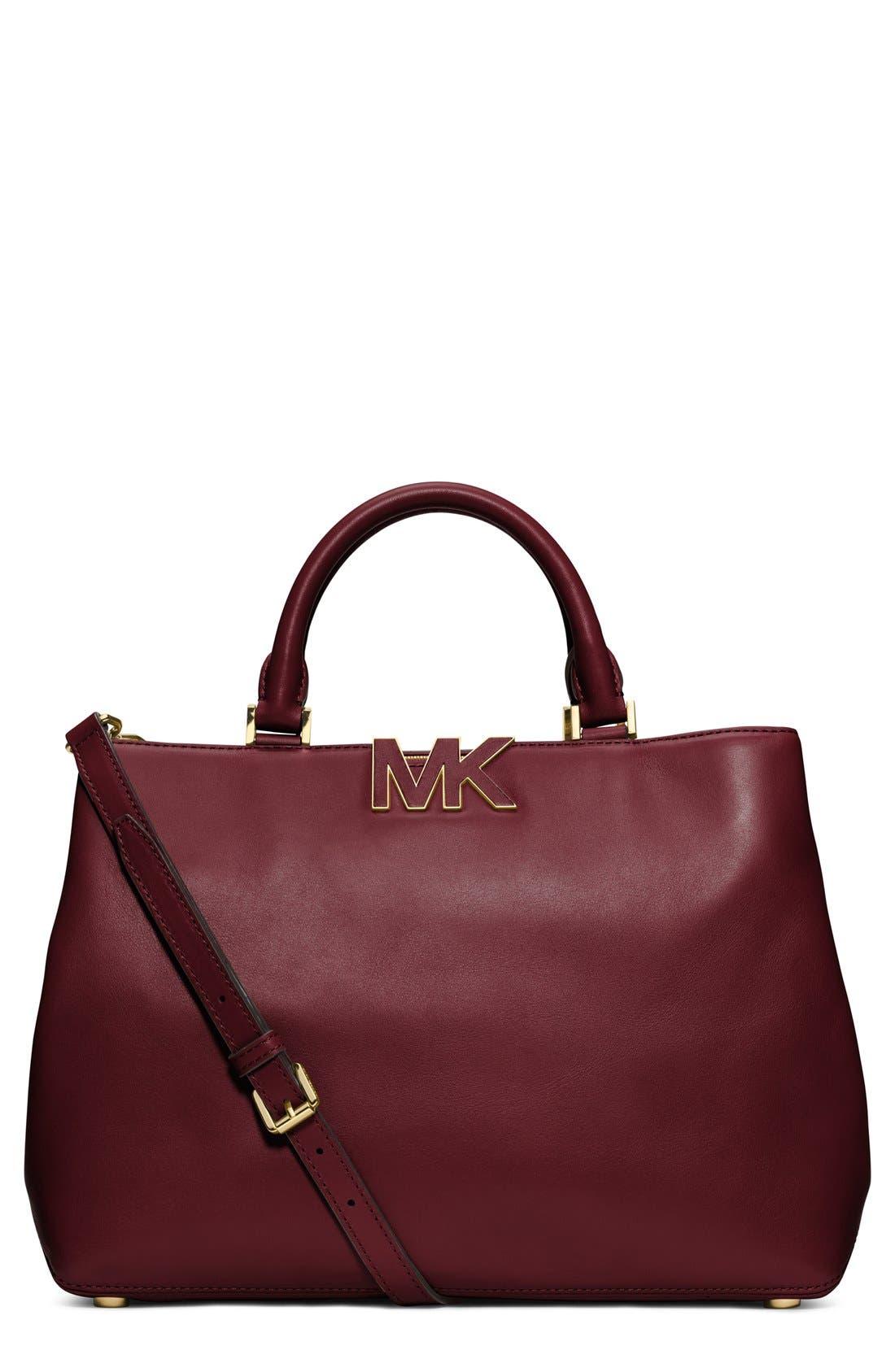 Main Image - MICHAEL Michael Kors 'Large Florence' Leather Satchel