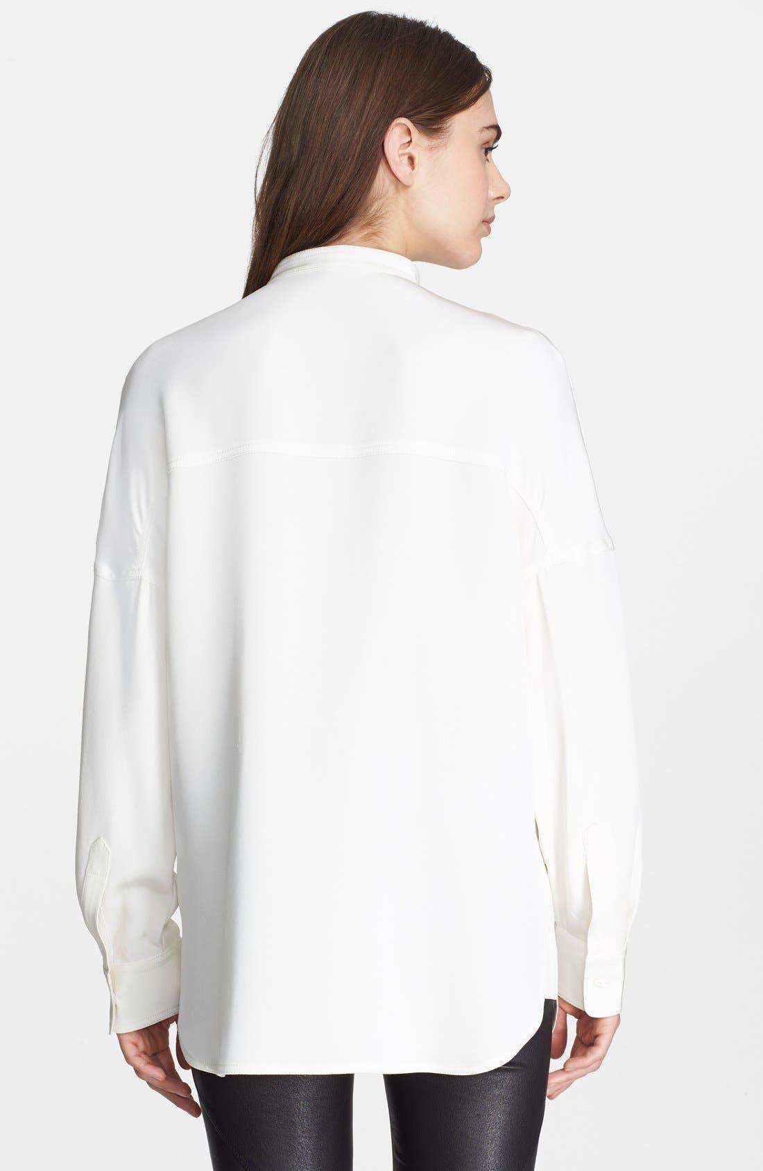 Alternate Image 2  - Alexander Wang Oversize Silk Shirt