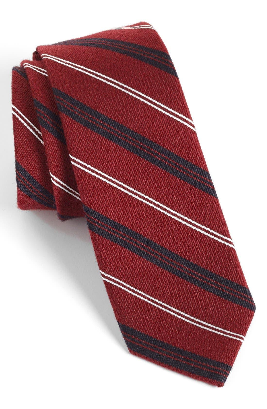 Main Image - 1901 'Browne' Woven Wool & Silk Tie