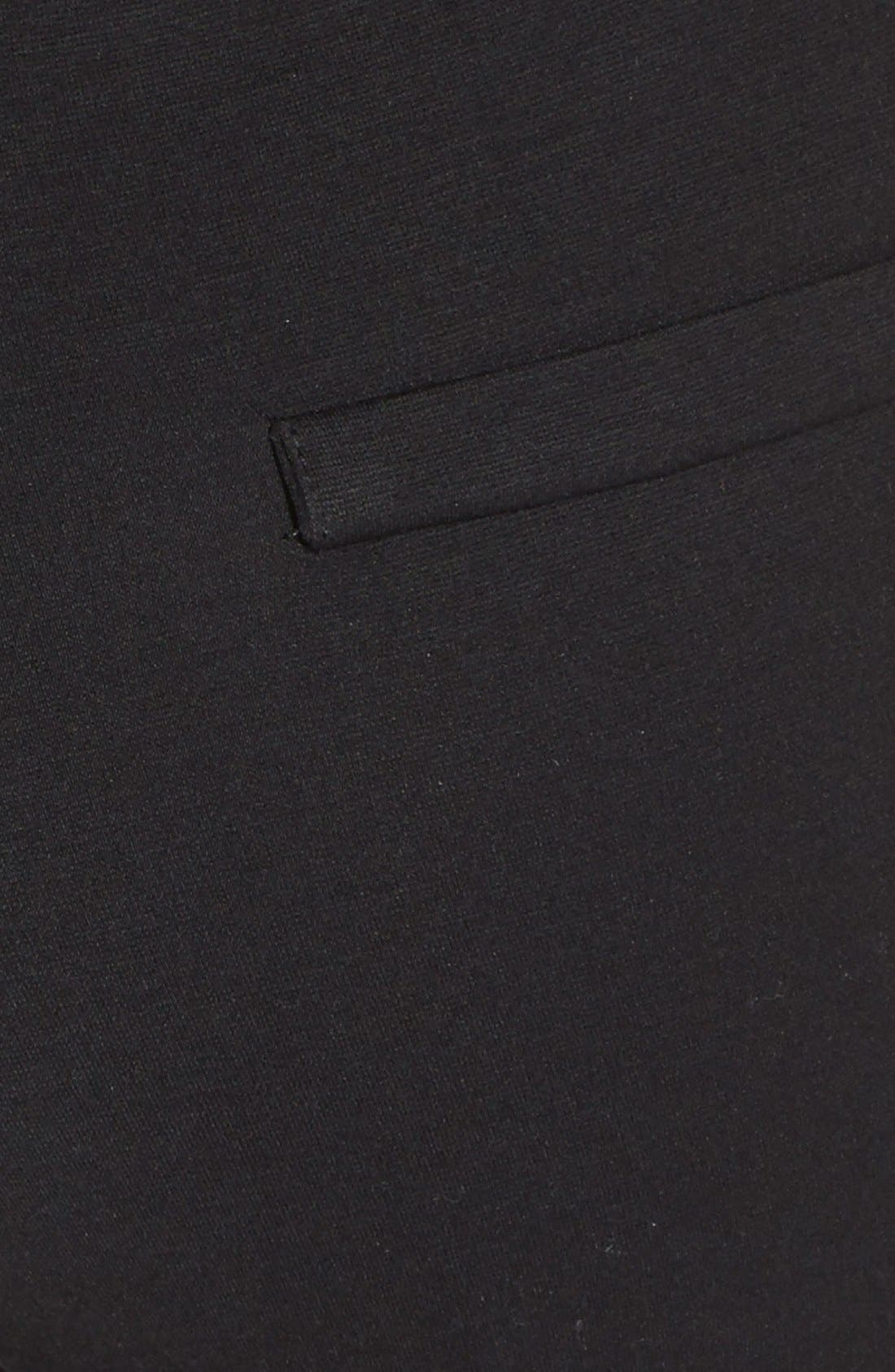 Alternate Image 4  - X by Gottex Quilted Panel Ponte Leggings