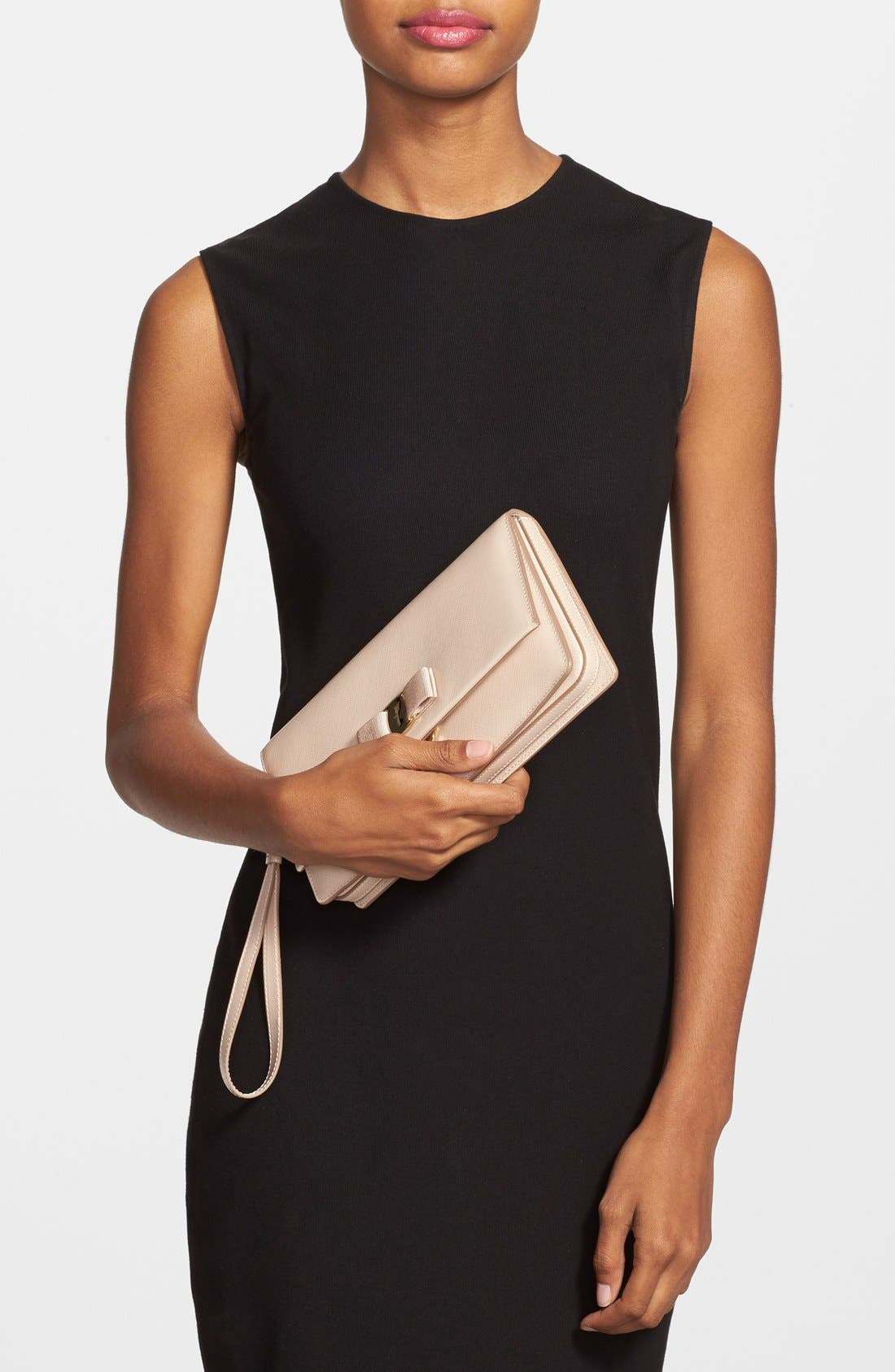 'Camy' Clutch,                             Alternate thumbnail 2, color,                             New Bisque