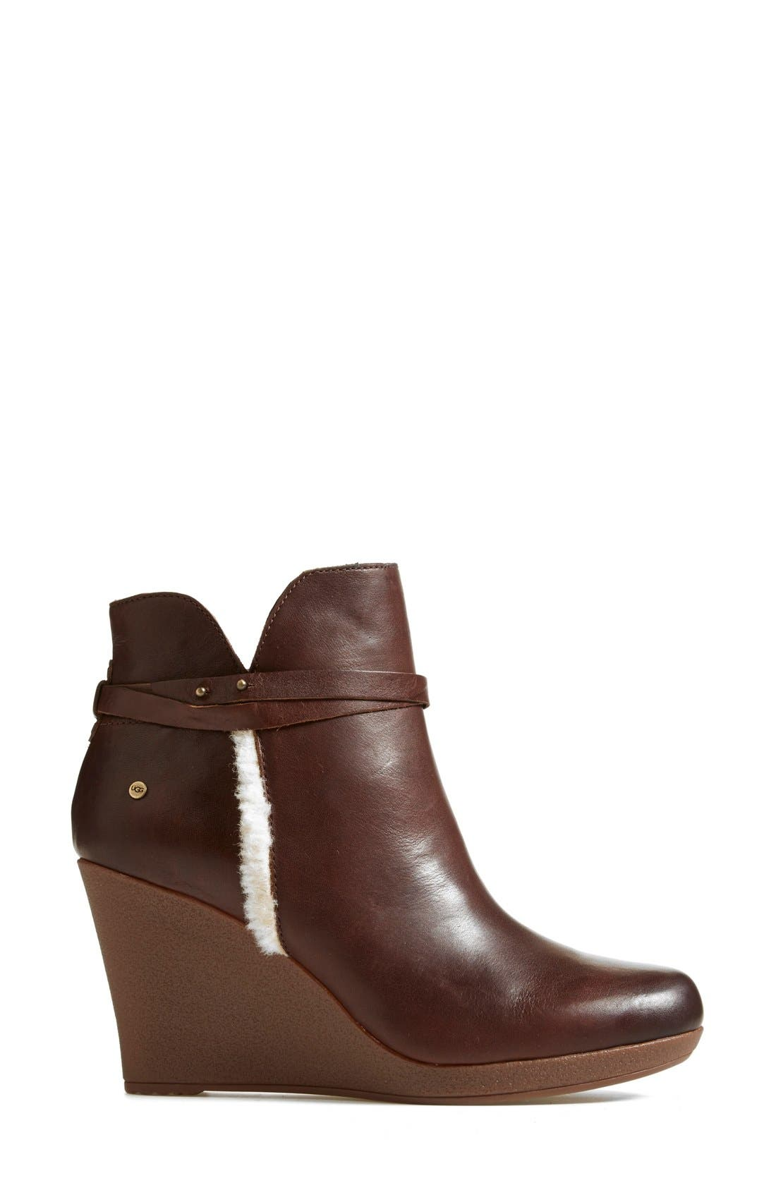 Alternate Image 7  - UGG® Australia 'Alexandra' Water Resistant Wedge Bootie (Women)