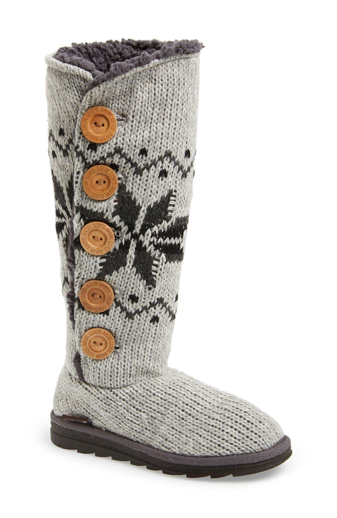 Alternate Image 1 Selected - MUK LUKS 'Malena' Button Up Crochet Boot (Women)