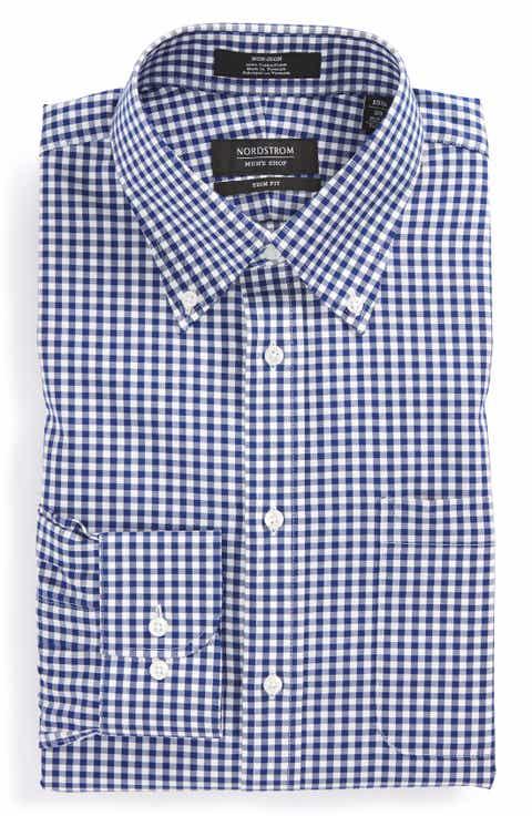 Men 39 s dress shirts nordstrom for Mens gingham dress shirt