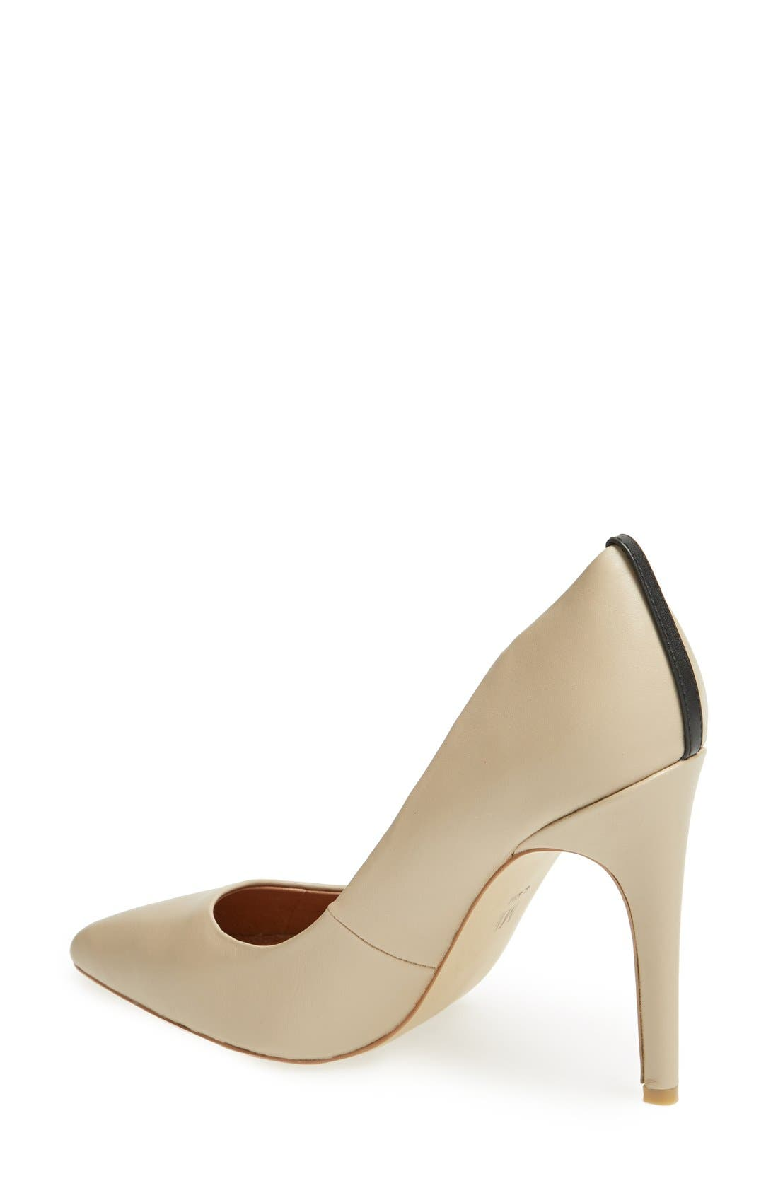 'Jolie' Pointy Toe Pump,                             Alternate thumbnail 2, color,                             Taupe