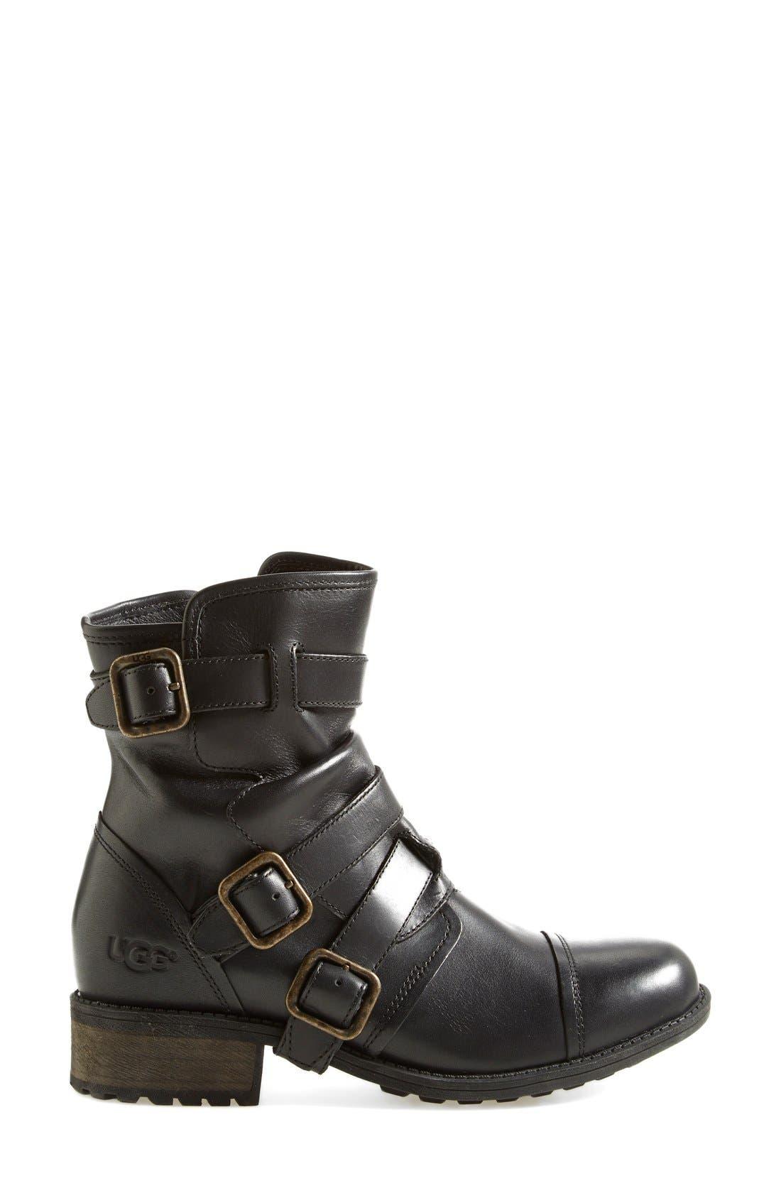 Alternate Image 7  - UGG® Australia 'Finney' Moto Boot (Women)