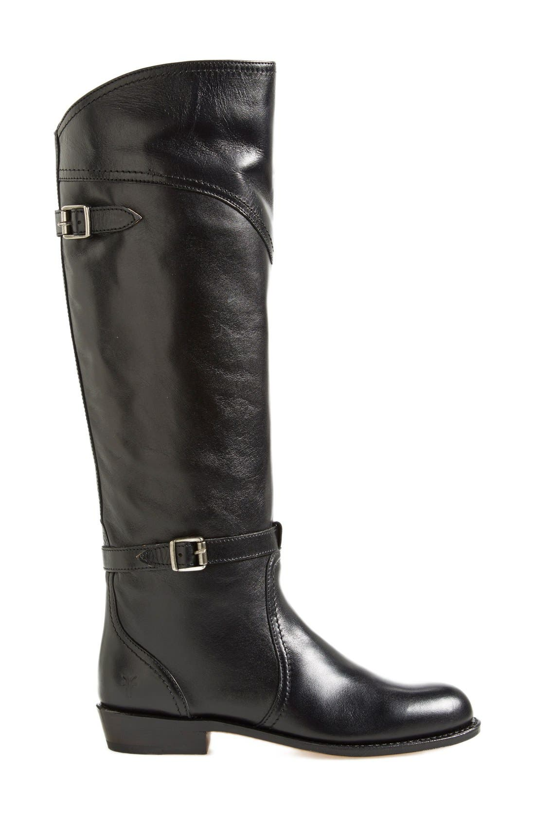 'Dorado' Leather Riding Boot,                             Main thumbnail 1, color,                             Black