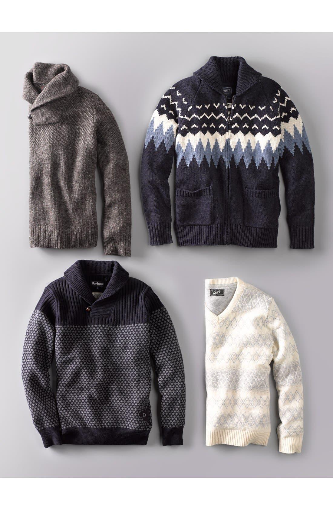 Alternate Image 4  - Barbour 'Windale' Regular Fit Wool Shawl Collar Sweater