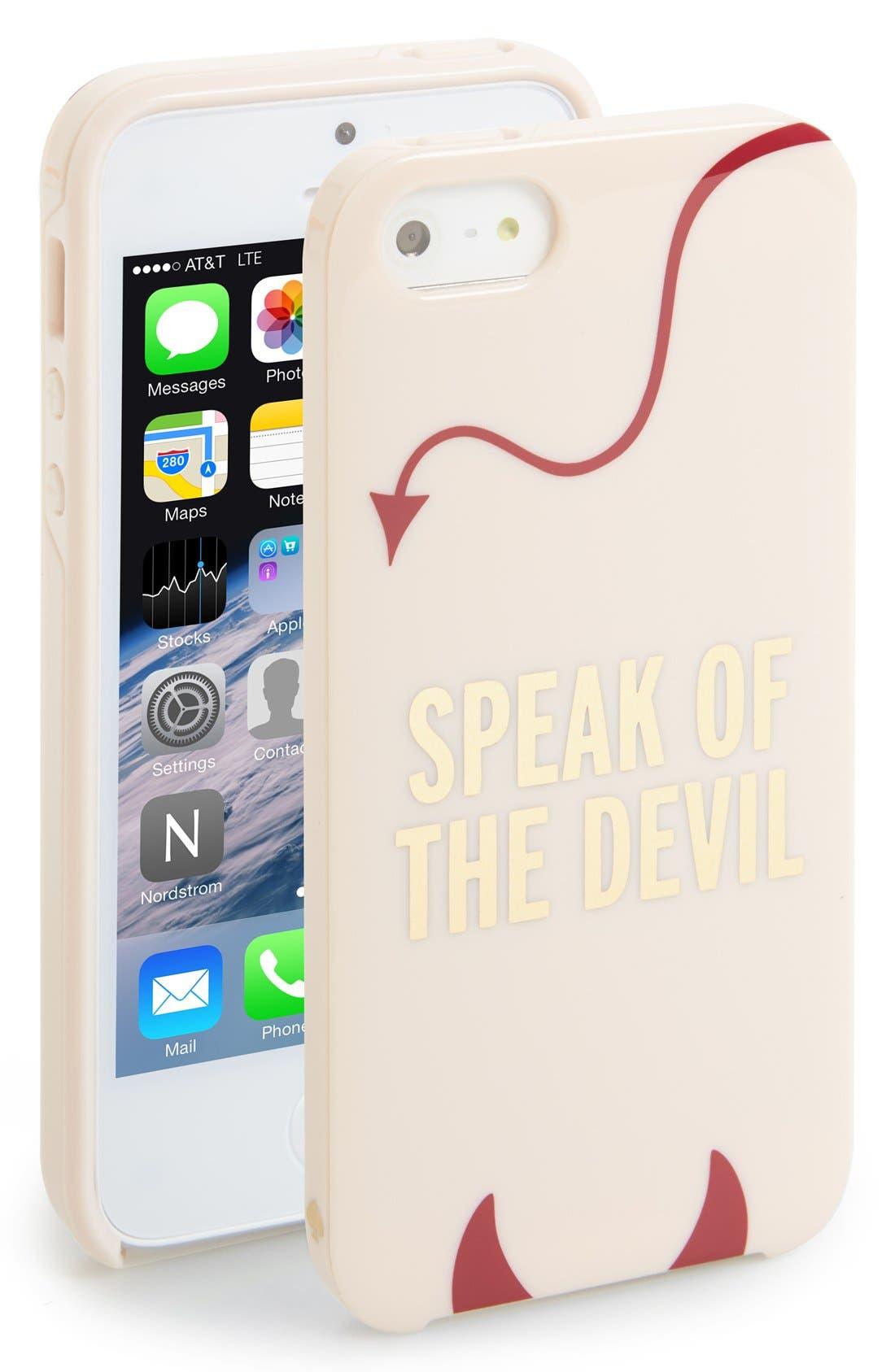 Alternate Image 1 Selected - kate spade new york 'devil' iPhone 5 & 5s case