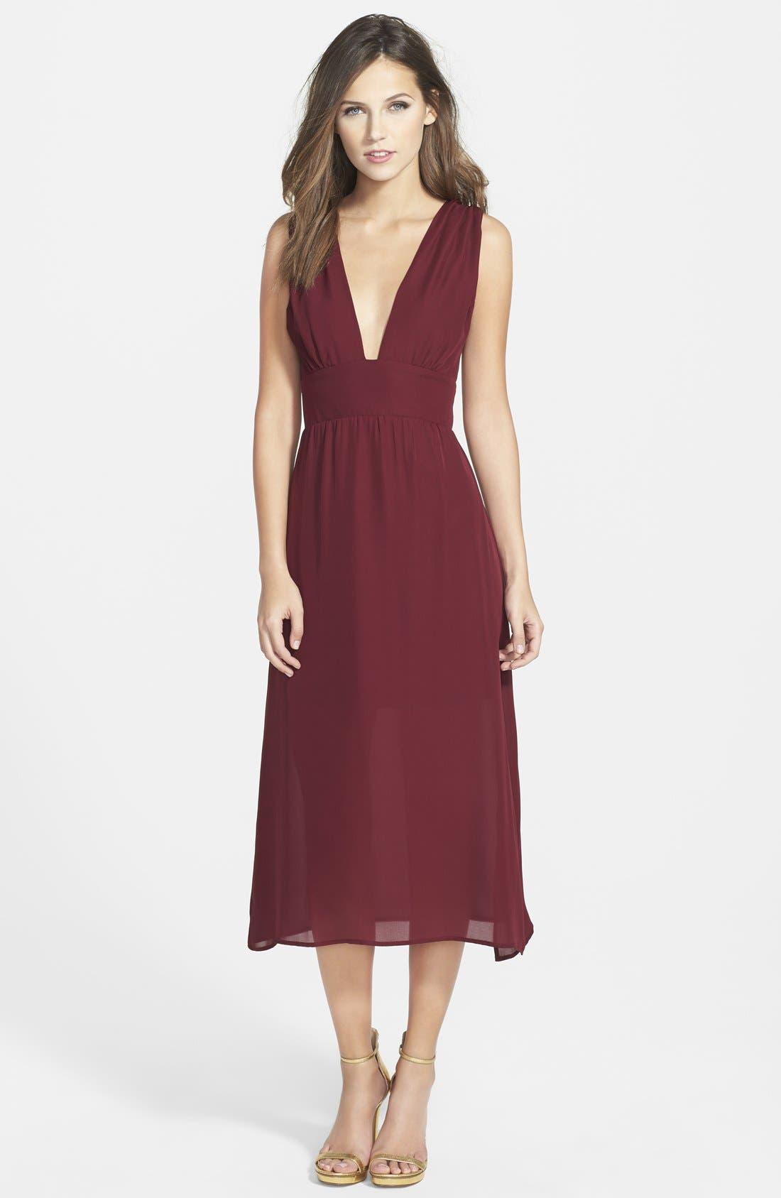 Alternate Image 1 Selected - Myne Silk Midi Dress