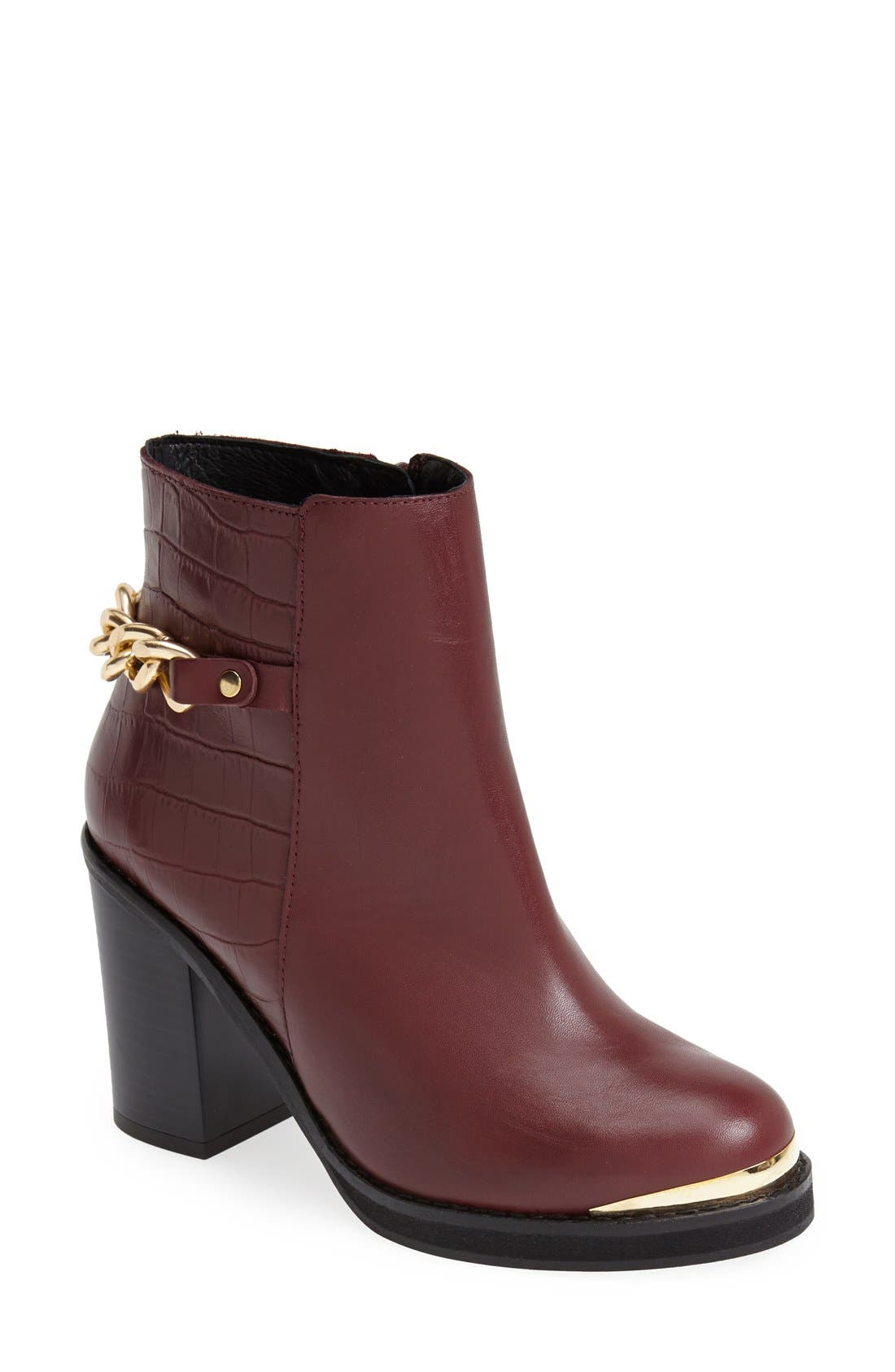 Alternate Image 1 Selected - Topshop 'Merit' Chain Ankle Boot (Women)