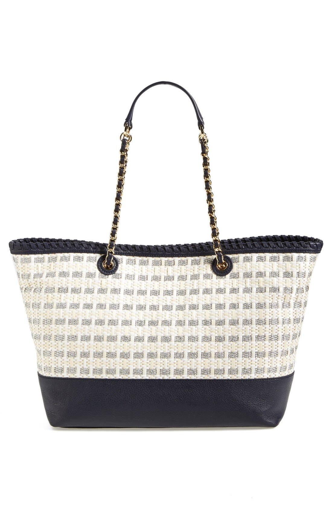 Alternate Image 4  - Tory Burch 'Marion' Woven Straw Tote