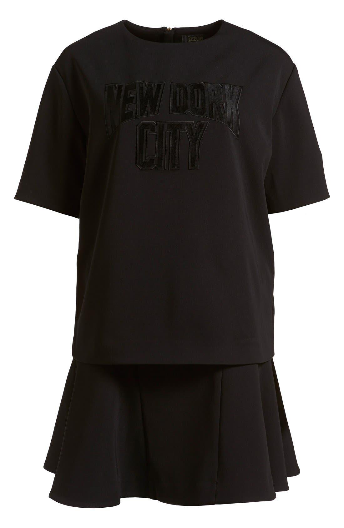Alternate Image 1 Selected - izzue Bonded T-Shirt Dress (Women)