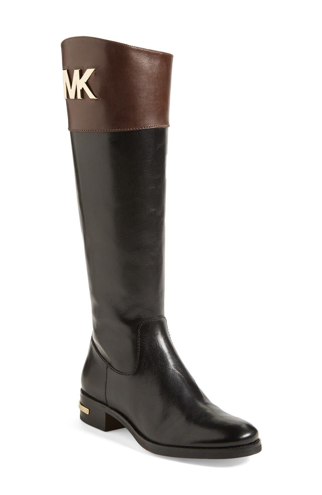 Alternate Image 1 Selected - MICHAEL Michael Kors 'Hayley' Leather Boot (Women)