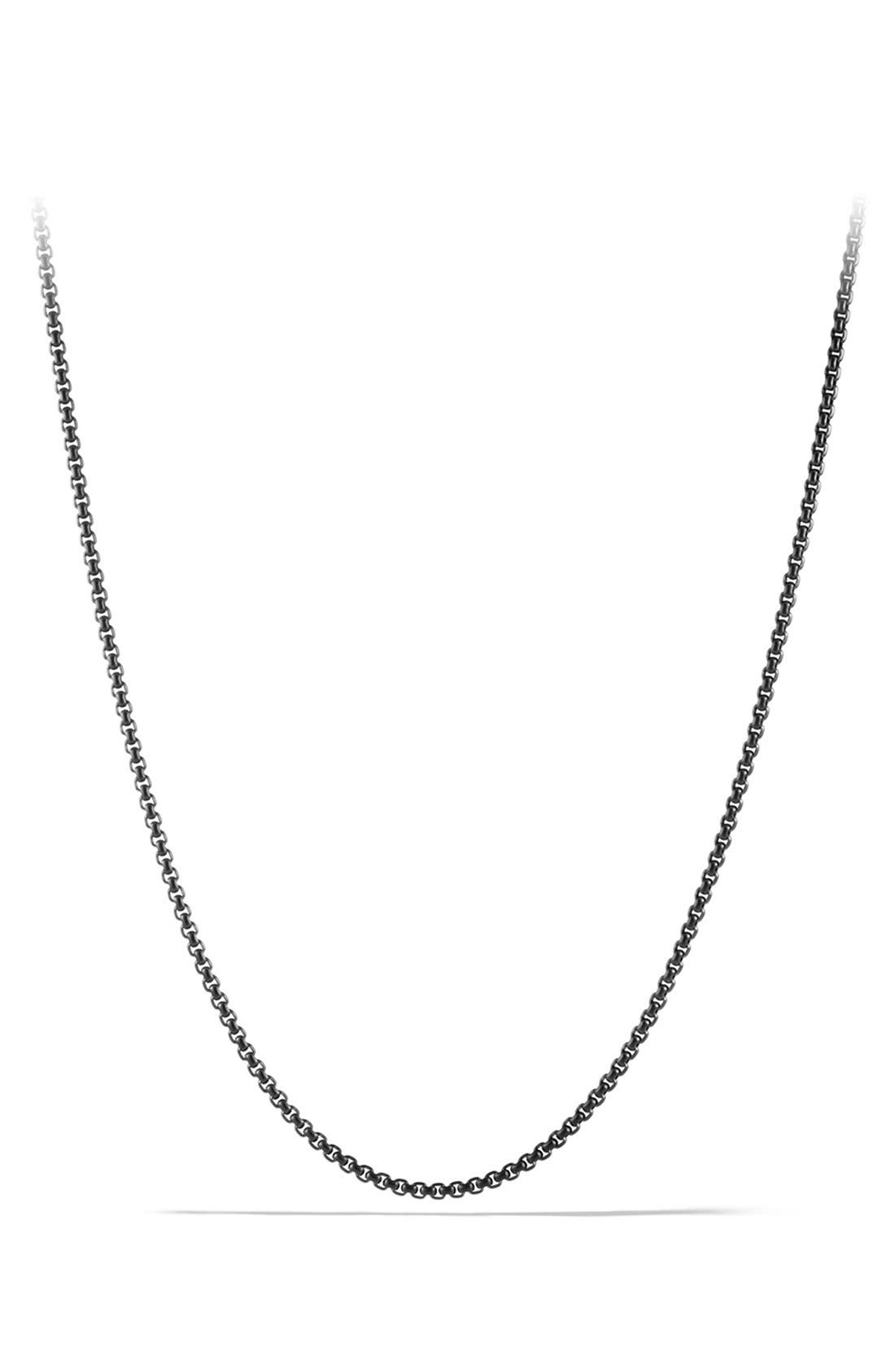 'Chain' Small Box Chain Necklace,                         Main,                         color, Stainless Steel