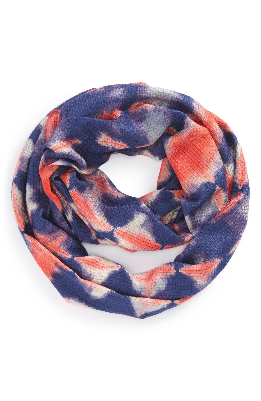 Tie Dye Infinity Scarf,                             Main thumbnail 1, color,                             Blue
