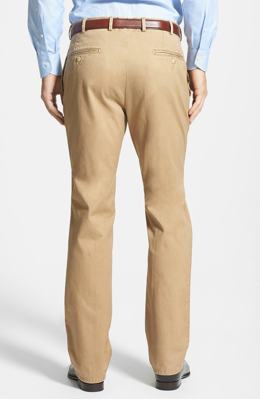 Alternate Image 2  - Peter Millar Garment Washed Twill Pants