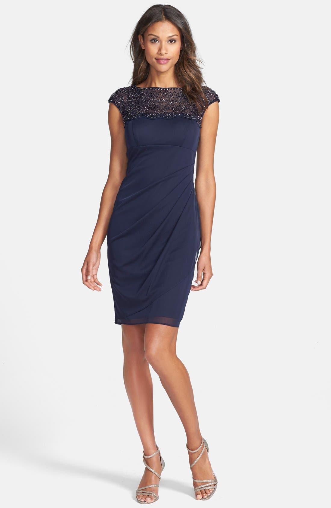 Alternate Image 3  - Xscape Beaded Jersey Sheath Dress